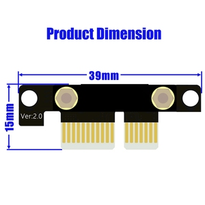 Image 4 - 90 Degree Pci E Pci Express 1X To 1X Slot Riser Card Converter Extender Ribbon Adapter Extension Cable Pci E X1 Gold Plated Fo