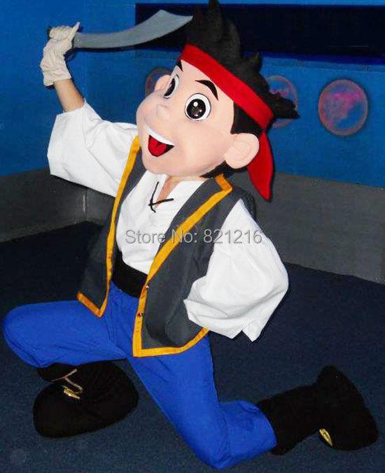 Бесплатная доставка Джейк Маскоты костюма взрослых Костюм характера/Джейк и пираты Нетландии»