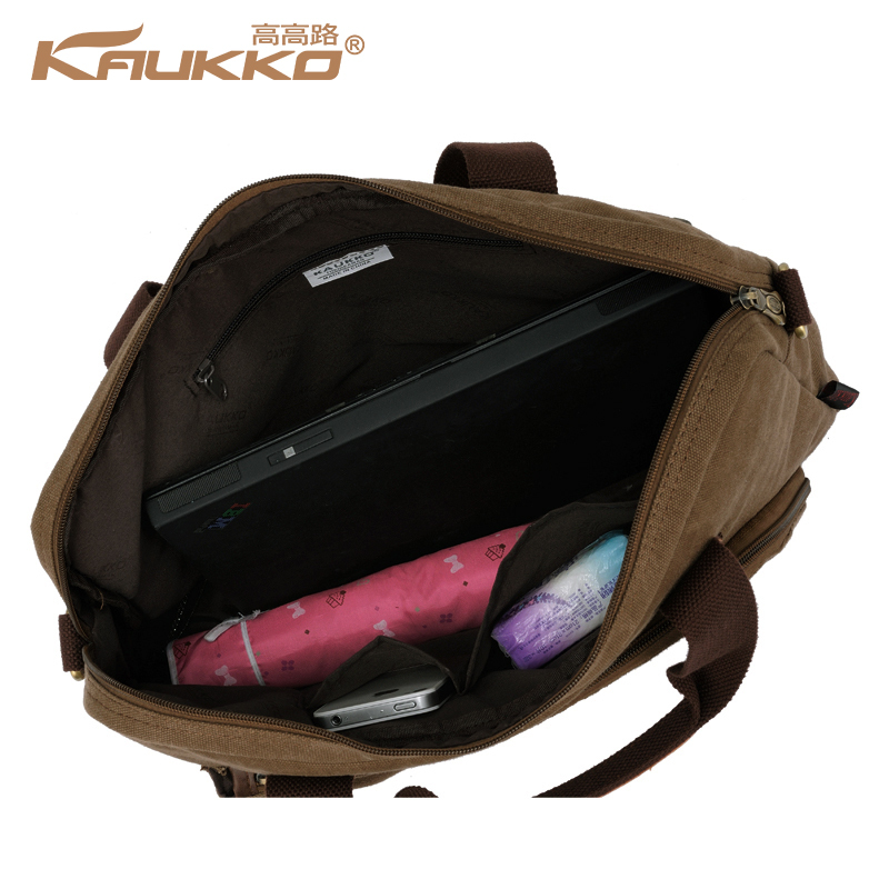 Kaukko Cotton Canvas Handbag Cross Body Messenger Shoulder Handbag Briefcase Bag School Handbag for Men Women Free Shipping