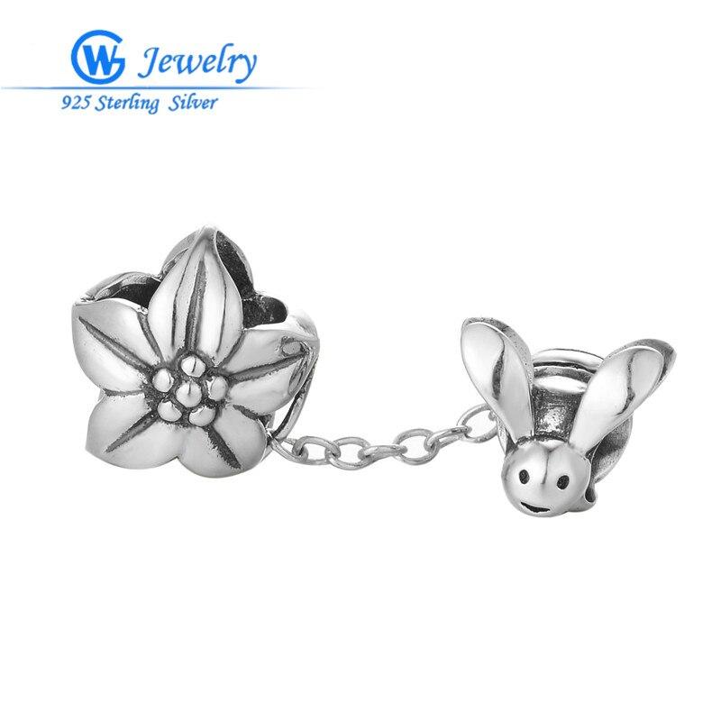 GW Fashion Jewelry Jewelry Safty Chain 925 Silver Bracelet Women's Fashion Jewelry Sterling Safety Chain Diy A002H30 брелок gw jewelry