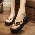 New 1pair Summer High-Heeled Platform Shoes Fashion Women Sandals Hawaii Beach Flip Flops Lady Slippers