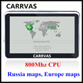 CHEGADA de NOVO! CARRVAS 5 polegada 800 Mhz CPU Gps Car Navigation Sat Nav, 4 GB com 2016 mapas para a Europa Rússia Ucrânia Belarus KZ