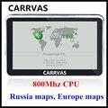 NUEVA LLEGADA! CARRVAS 5 pulgadas 800 Mhz CPU Del Gps Del Coche Navegación Sat Nav, 4 GB con 2016 mapas de Europa Rusia Ucrania Bielorrusia KZ