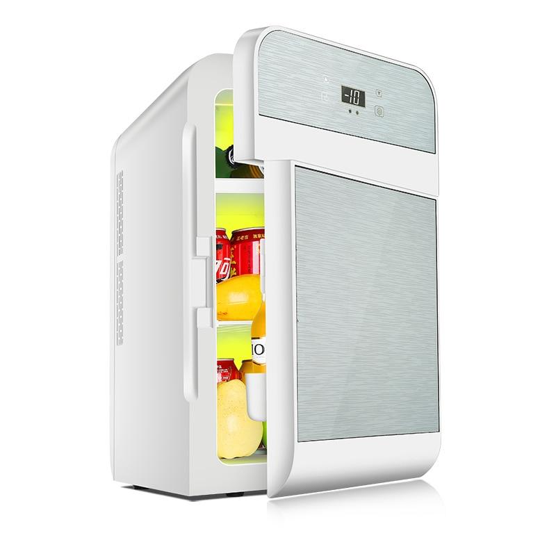 20 Litre Car Refrigerator Mini Student Dormitory Portable Fridge Car Home Dual-purpose Fresh-keeping Heating Fridge Freezer