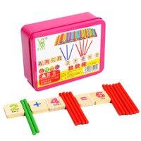 חומרים במתמטיקה מונטסורי עץ חינוכיים צעצועי משחק דיגיטלי מודיעין צבע הוראה חישוב צעצוע WD41-2