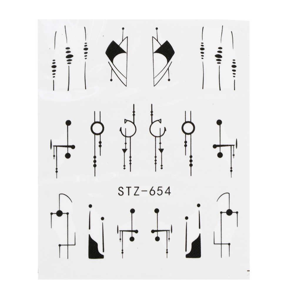 1 шт. водные для ногтей наклейки линейный цветочный узор украшения для ногтей слайдер для ногтей водяной знак, маникюр фольги CHSTZ645