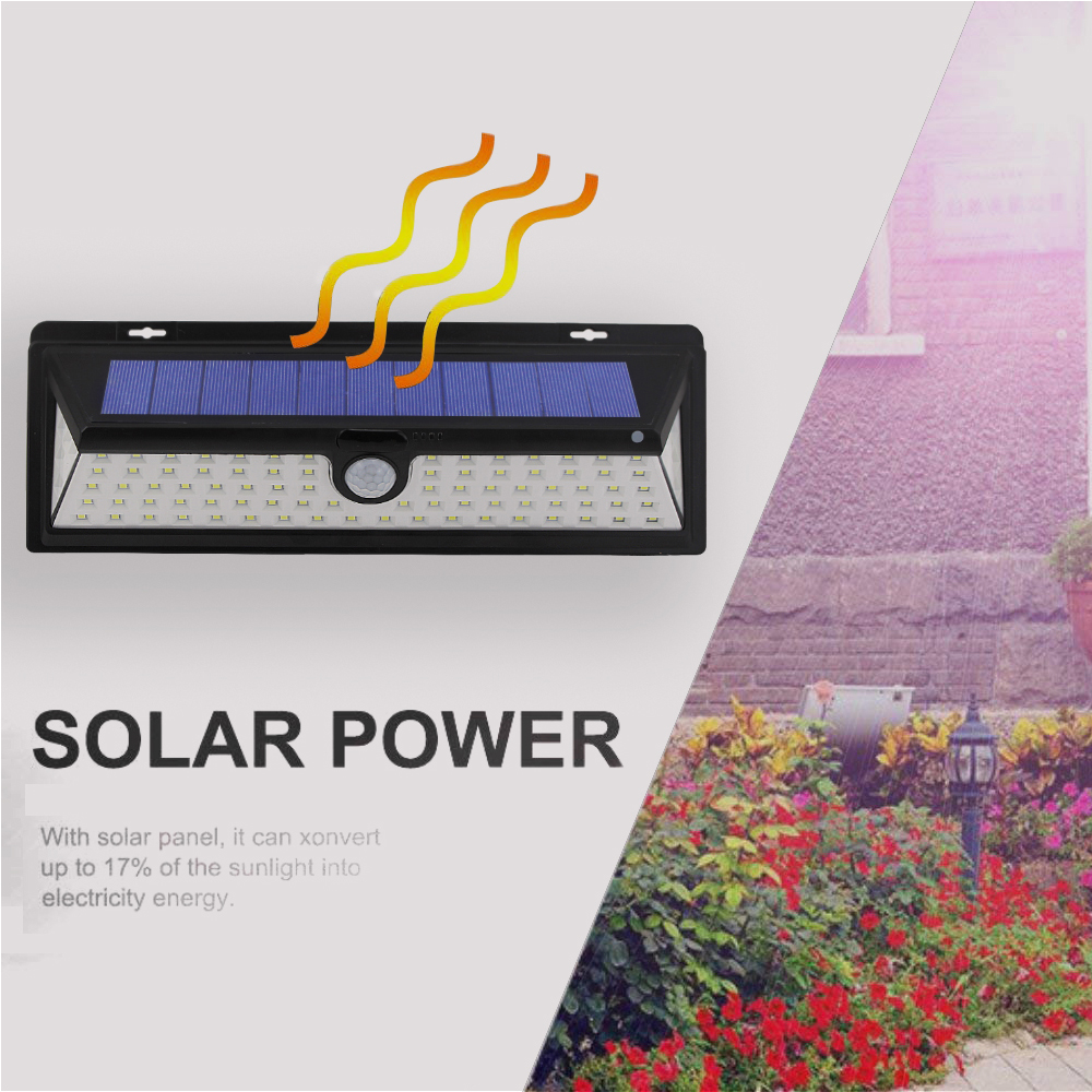 44/90/118 LED Solar Powered Garden Lights Outdoor PIR Waterproof Solar lamp with motion sensor Energy Saving Security Wall Lamp
