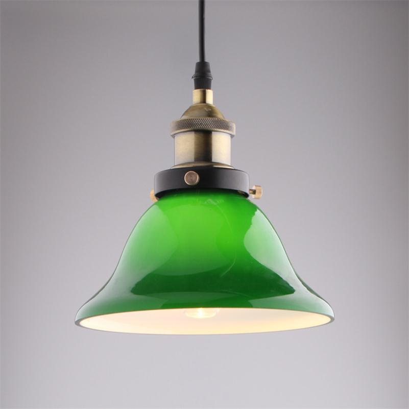 Nordic Vintage Pendant Lights USA Bar Cafe Retro Emerald Glass Hanging Lamps Minimalist Restaurant Droplight Fixture E27 Edison vintage bird pendant light glass pendant lights contemporary creative retro art glass cafe restaurant study lamps