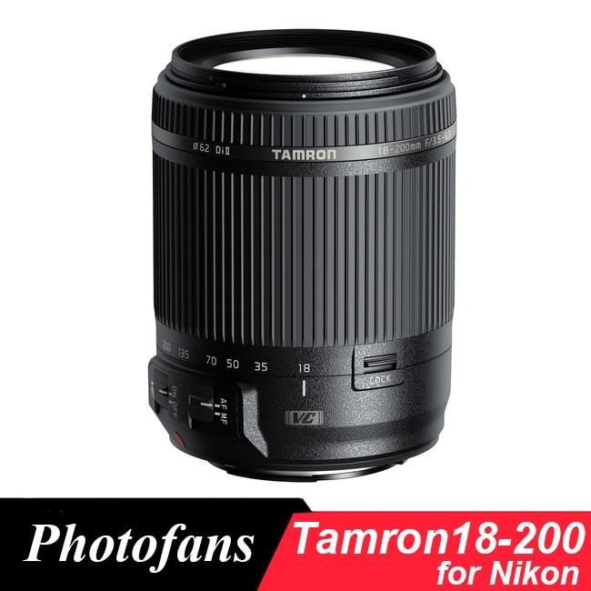 Prix pour Tamron 18-200mm Objectif pour Nikon 18-200 f/3.5-6.3 Di II VC lentille pour D3200 D3300 D3400 D5200 D5300 D5500 D5600 D7100 D7200