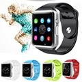 A1 2016 smart watch pedômetro esporte das mulheres dos homens de moda relógio de pulso do bluetooth com slot para cartão sim câmera smartwatch para android pk gt08