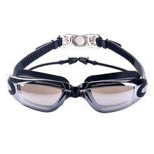 Профессиональные силиконовые плавательные очки, противотуманные УФ очки для плавания с затычкой для ушей для мужчин и женщин, очки для водных видов спорта