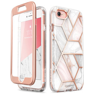 Image 1 - Capa para iphone se 2020, case de corpo inteiro para iphone 7/8, 4.7 polegadas, i blason cosmo, amortecedor de mármore capa com protetor de tela embutido