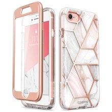 Pour iPhone SE 2020 étui pour iPhone 7/8 étui 4.7 pouces i blason Cosmo housse de pare chocs en marbre avec protection décran intégrée