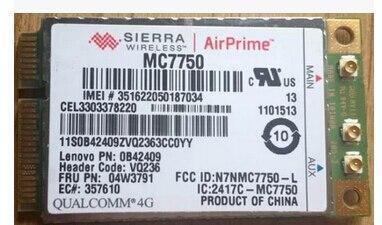 Sierra MC7750 GOBI4000 04W3791 Mini PCI e 3G 4G HSPA 100MB LTE WLAN Card GPS for IBM T430 T430i T430s T430si X230 X230i X230