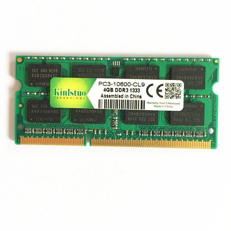 NOUVEAU ddr3 4 GB 1333 MHz PC3-10600S 2RX8/1RX8 RAM Mémoire D'ordinateur Portable DDR3 1333 4 gb d'origine SoDIMM