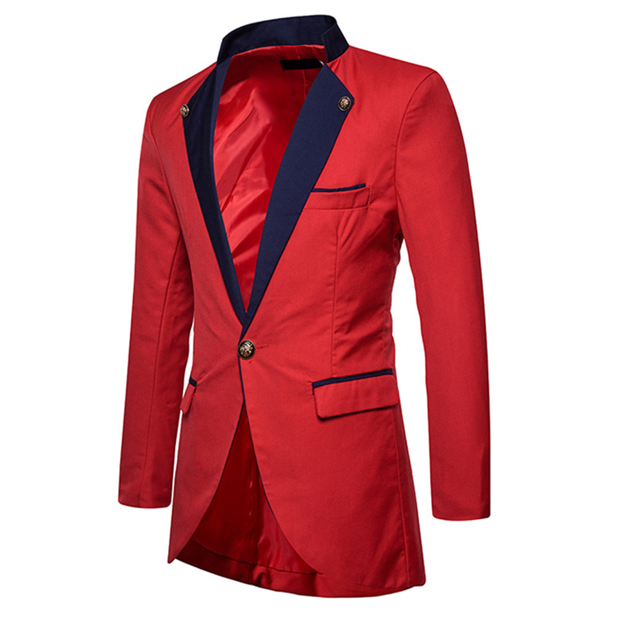 Blazers Gothic White Blazer Men Slim Fit Wedding Plus Size Casual Red Party Unique Mens Blazers Swallowtail Suit Jacket Men Stage 6x05 Skillful Manufacture