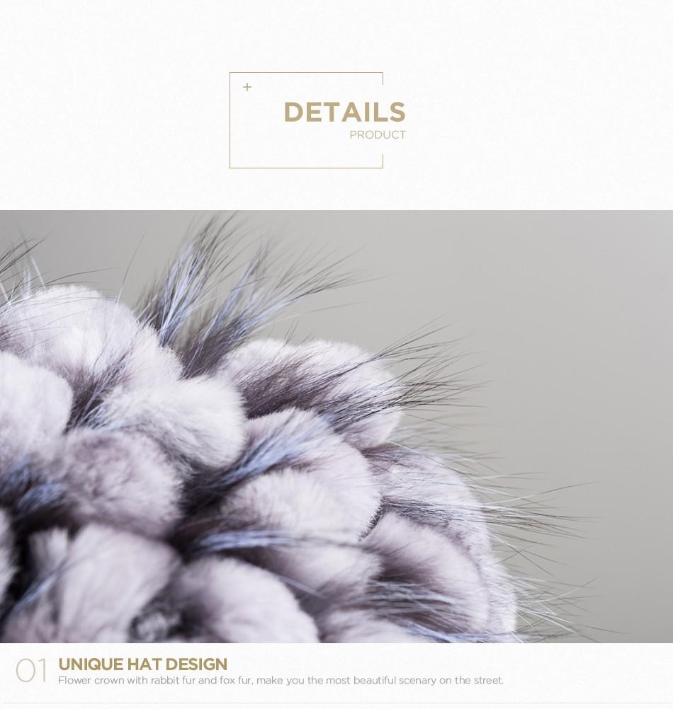 mink fur hats female winter PCM016 (5)
