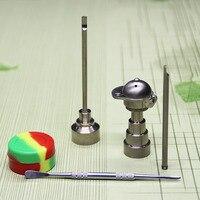 Cachimbo de água conjunto de ferramentas boné de beisebol titanium prego 10mm & 14mm & 18mm (6 em 1) cap carb para cachimbo cachimbos de água de vidro