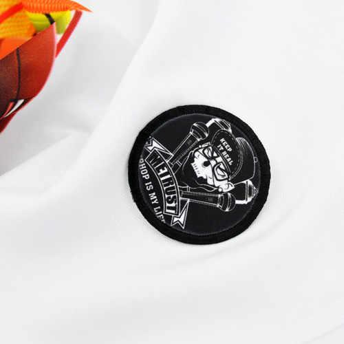 Bộ 50 Thăng Hoa truyền nhiệt cho hợp thời trang yếu tố đơn giản và cá tính trong chất lượng cao chữ ký Vải phong cách Huy Hiệu Tròn
