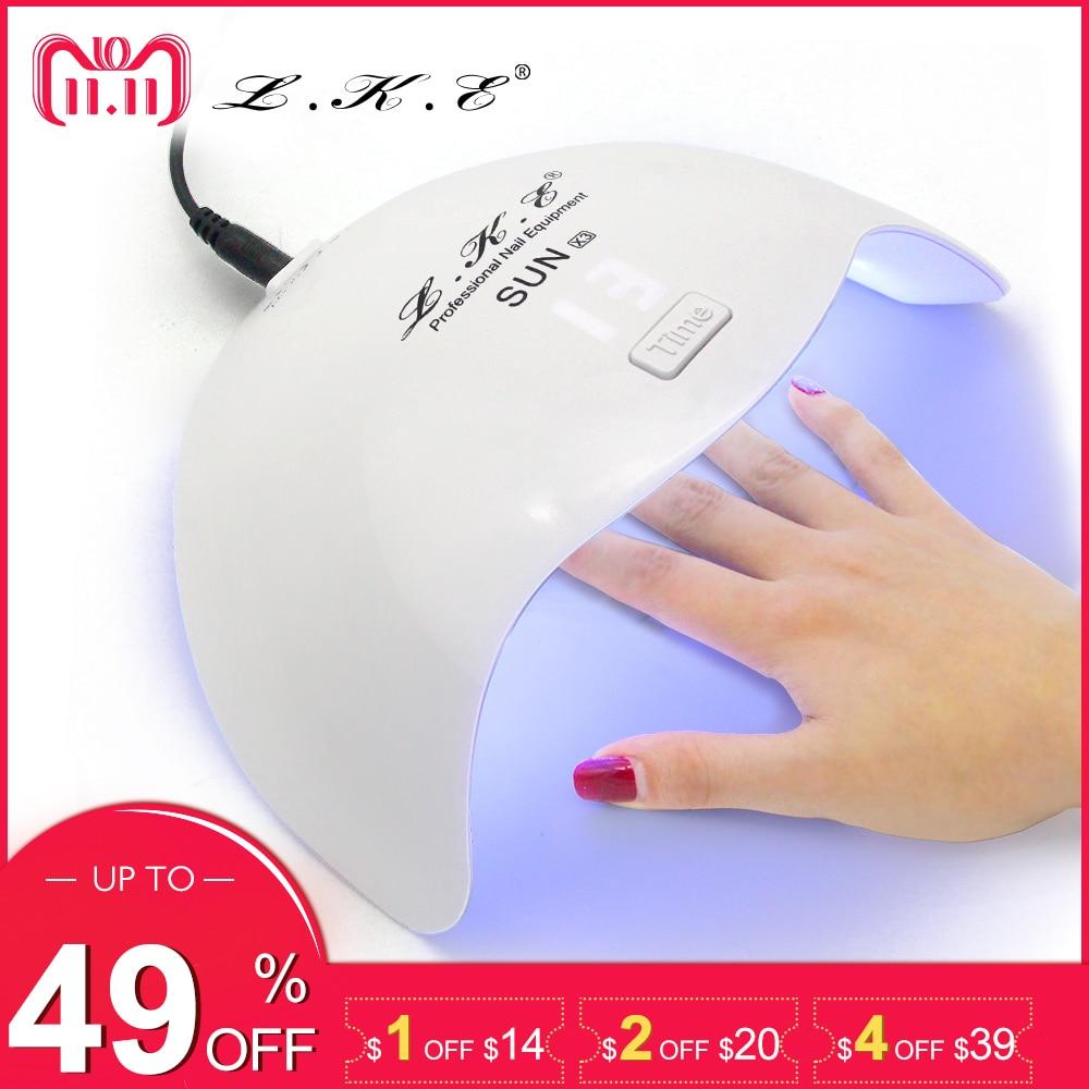 LKE 24W Nail Dryer LED Lamp Nail Gel Lamp For Nail Salon Art Tools Dry Quickly Dryer Lamp 110-240V Nail Art Tools UV Lamps