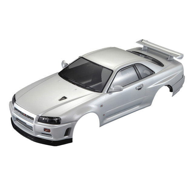 Killerbody Nissan Skyline R34 Finished Body Pearl White Rc Car Body