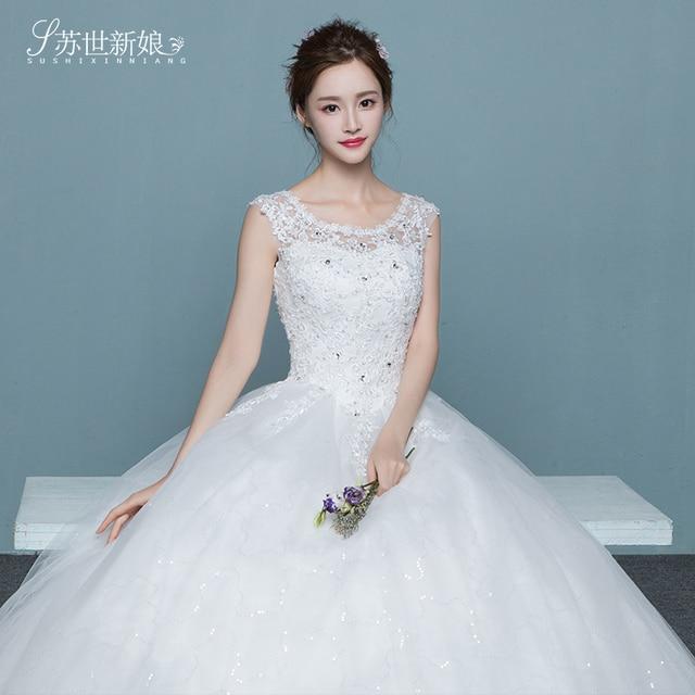 Bridal A Line Wedding Dress Short Sleeve Sequin Chiffon Wedding Gown ...
