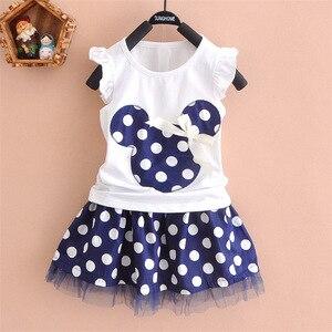 Новинка, милое платье принцессы для девочек с рисунком Hello Kitty, мини-платье принцессы + Топ, одежда с короткими рукавами для девочек, одежда дл...