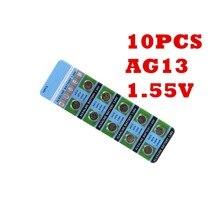 OOLAPR Coin battery  10PCS/CAR alAlkaline Cell AG13 Button cell LR44 SR44SW SP76 L1154 RW82 RW42 357A
