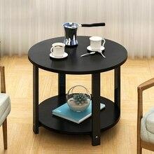 Домашний Деревянный Журнальный Столик простой современный круглый чайный столик небольшой размер журнальный столик гостиная диван чайный столик спальня