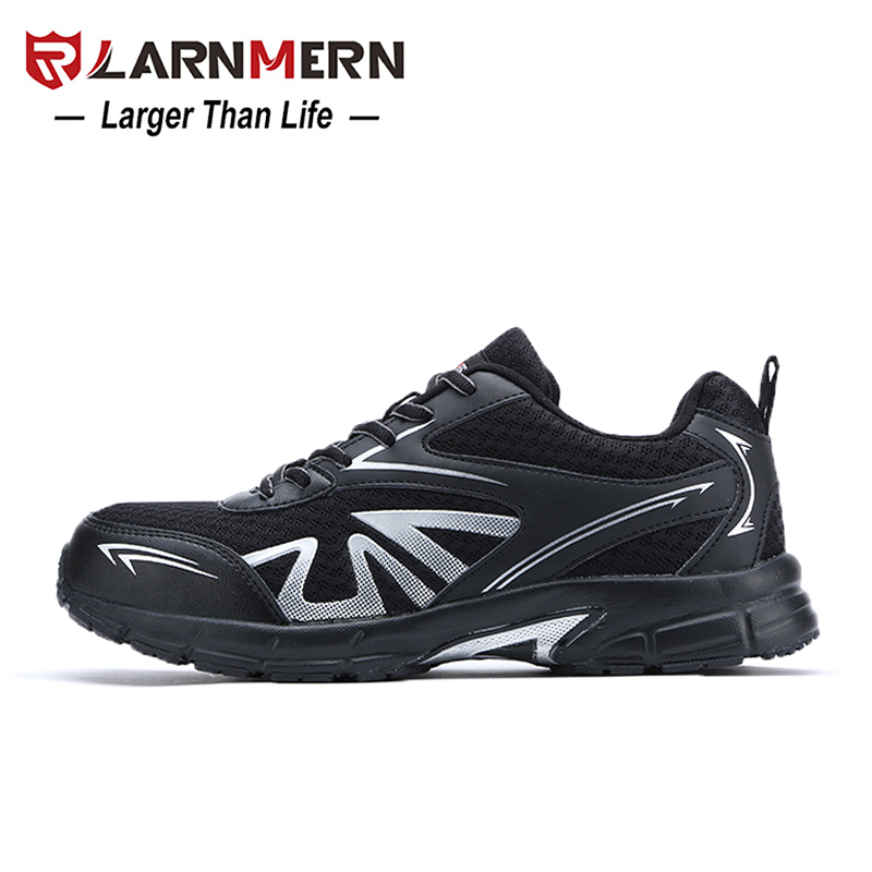 Men's Boots Larnmern Mens Steel Toe Safety Work Shoes Lightweight Breathable Anti-smashing Non-slip Construction Protective Footwear Men's Shoes