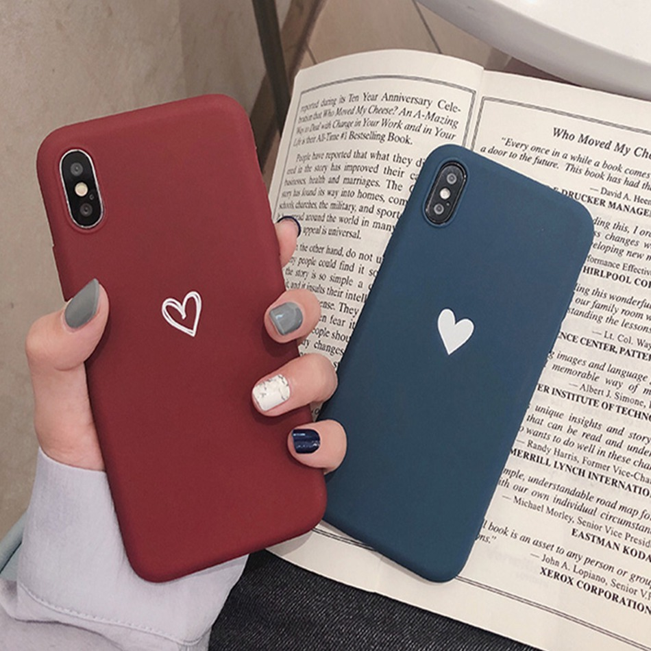 For <font><b>OPPO</b></font> A3S A5 R17 A83 A59 A37 A39 <font><b>Case</b></font> Love Heart Print Back Cover For <font><b>OPPO</b></font> F9 <font><b>F7</b></font> F5 Retro Lovely Matte Soft TPU <font><b>Cases</b></font> image
