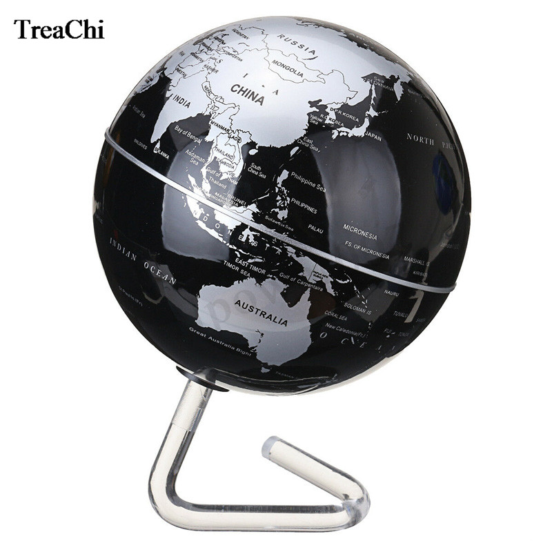 3 Colors Self-Rotating Globe Display Shelf Store Counter Battery Powered Geography Wold Globe Desk Decor Promotion Gift Stand 4