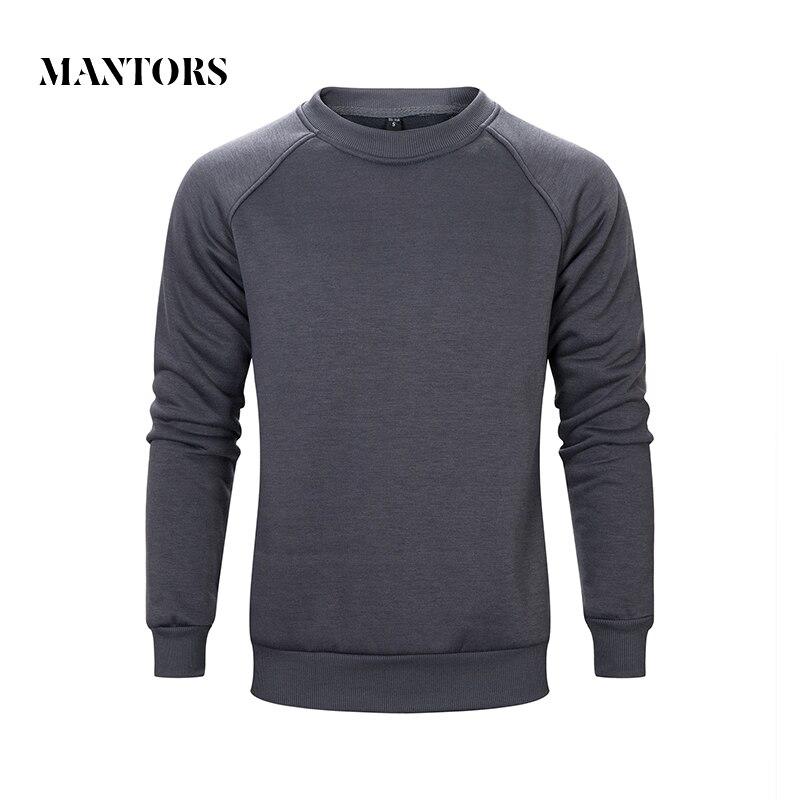 Vårhöst Nya män Casual Sweatshirt Solid Color Tracksuit Man Fleece - Herrkläder
