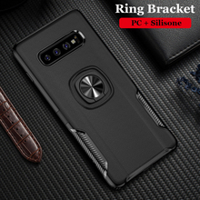 Silicone Cases For Samsung S10/S10 Lite/S10e Metal Ring Stand Soft Case for Galaxy S10/S10Plus/S10E Phone Bag