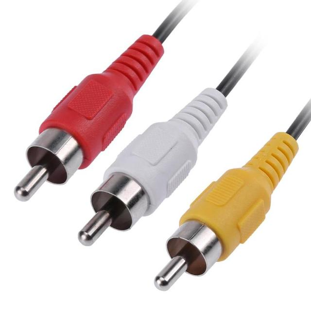 ALLOYSEED 25cm 3 RCA Stecker auf 6 Cinch-buchse Stecker Audio Video AV Kabel Adapter RCA Jack Splitter Kabel verlängerung AV Kabel Für TV DVD