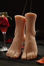 Newest 3D silicone sweet ballerina favorite simulation foot feet model tanned skin sexy sole natural clear toenails