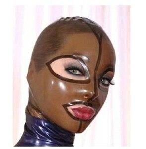 Image 3 - Latex kostüme hauben masken w schwarz zipper