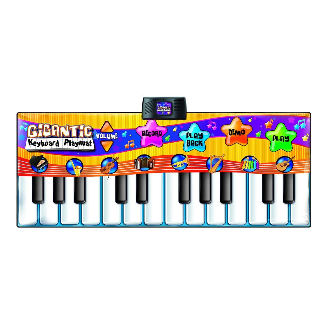 Tapis de danse Piano musique bébé tapis de jeu jouet avec 24 clés pour les enfants apprenant la musique Support enfant jeu Kit livraison directe