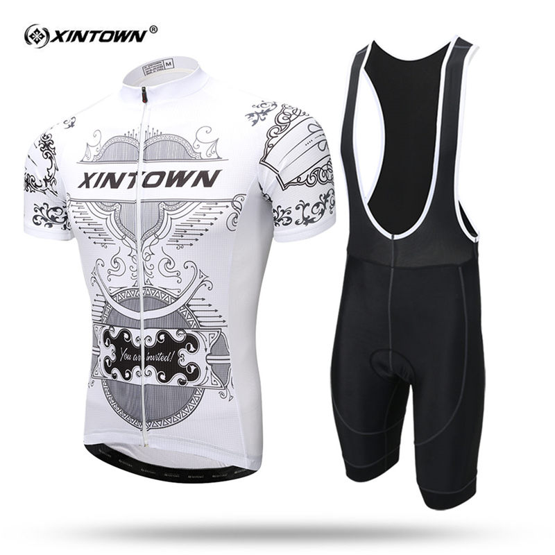 XINTOWN 2018 Short Sleeve Cycling Jersey Set MTB Bike Clothing Summer Bicycle Jerseys For Men Sweat Maillot Ropa Ciclismo