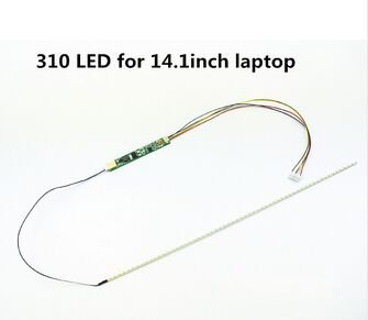 20pieces of led backlight lcd laptop dimmable lamps adjustable light update kit strips + board 9 - 25 v input for 14.1 inch 310