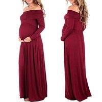 Maternity Maxi Dresses 2017 Maternity Photography Props Chiffon Vestidos Off Shoulders Maxi Pregnant Dress Pregnancy Photo
