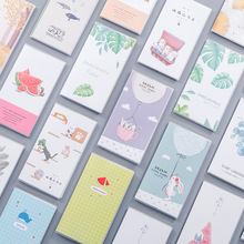 48K Cartoon Flamingo Cat Notebook School PVC Sleeve Portable Books Horizontal Line Page Kawaii Notepad For Kids Diary Stationery cute kawaii coloring page notebook a6 pu leather constellation diary horizontal line school office stationery supplies