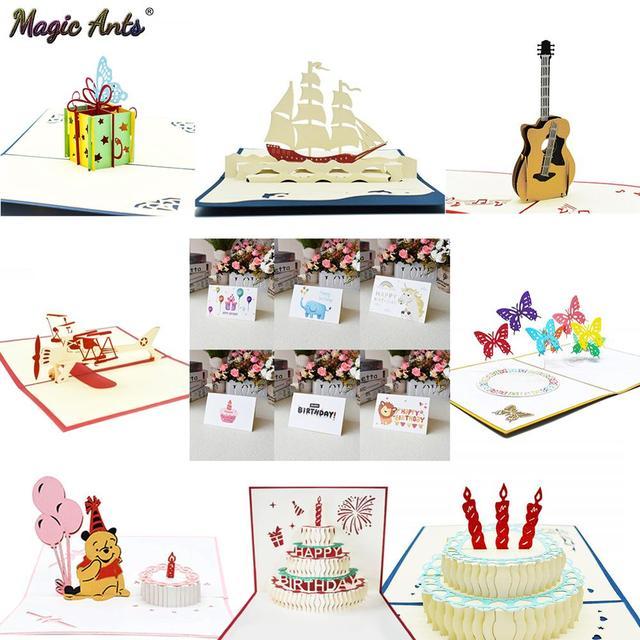 Us 068 13 Off3d Pop Up Kartu Kartu Ulang Tahun Untuk Anak Perempuan Istri Kue Ulang Tahun Kartu Ucapan Kartu Pos Hadiah Kartu Dengan Amplop Stiker