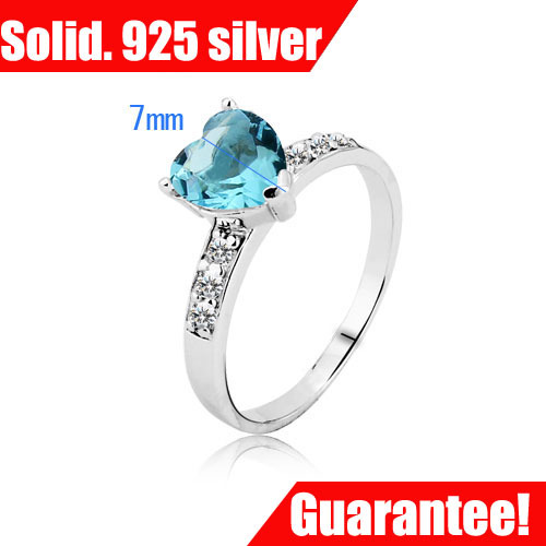 925 Sterling Silver Heart Love Ring