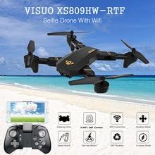 Neue Heiße VISUO XS809HW HD Kamera Höhe Halten Faltbare Arm RC Drone Outdoor-spielzeug Quadcopter RTF WIFI FPV Für RC Modelle VS MAVIC