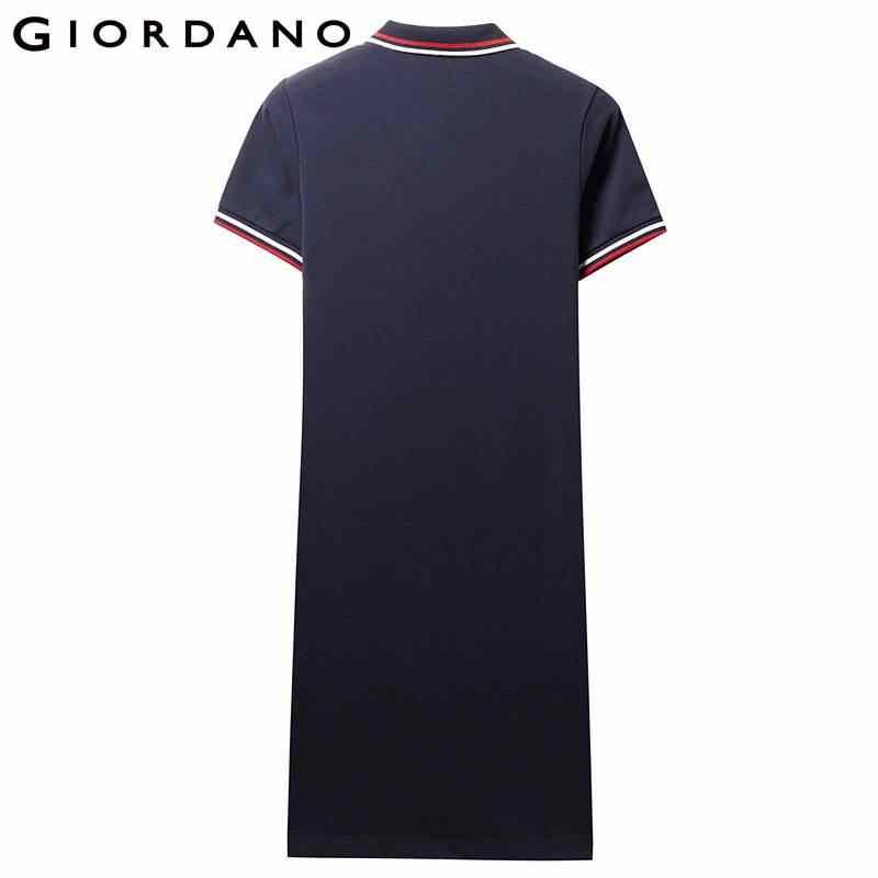 Giordano хлопковое платье Polo с вышивкой на груди, выполнено из натурального хлопка и лайкры,есть несколько вариантов цветов и моделей данного платья, широкий размерный ряд.