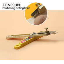 ZONESUN Hand DIY Draw Gauge Professional Patchwork Fabric leather Craft cut Strap Sewing Cutter  Knife tool with blade