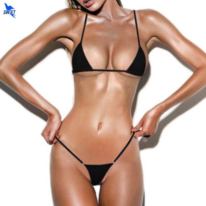 Women Mini Micro Bikini Set Extreme Sexy Bathing Suit Beach Sunbathing G-string Thong Lingerie Swimwear Strappy Biquini Swimsuit