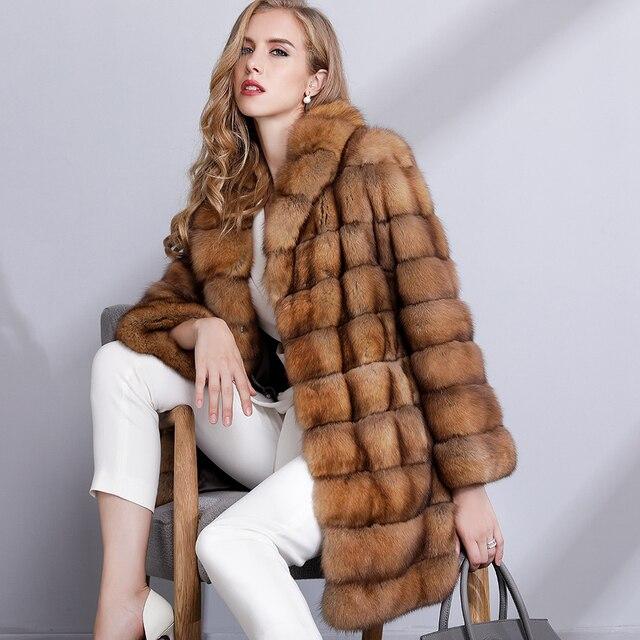 Sable Fur Coat >> Luxury Fur Coat Women High End Top Quality Winter Natural Fur Jacket