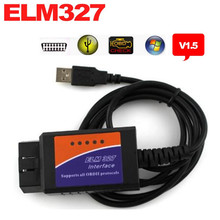 2017 Новый ELM327 USB OBD2 авто Диагностический Инструмент ELM 327 V1.5 Интерфейс USB OBDII CAN-BUS Сканер